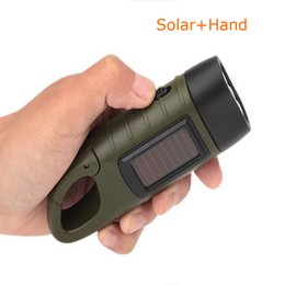 Wholesale Multifunction Rechargeable Portable - Portable Manual Dynamo LED Flashlights Multifunction Carabiner Solar Energy Self-generating Rechargeable Torch Led Camping Hiking Clambing L