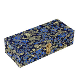 Wholesale Cover Decks - Double-Deck Satin Cover Oboe Reed Case Wooden Box for 40 Reeds Hold Protector