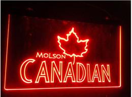 Wholesale Molson Beer - b-96 molson canadian beer bar pub club 3d signs LED Neon Light Sign man cave