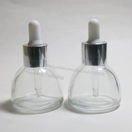 Wholesale Empty Dropper Bottles Glass Clear - Hot sales 10 x 30ml empty Clear glass essential oil dropper bottle 1oz glass dropper jars 30cc Glass Container