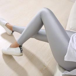 Wholesale Leggings Neon - Lady Solid Candy Color Neon Leggings high elastic Skinny Pants soft thin legins Workout slim Pants casual spandex legging