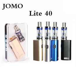 E tecnologia bateria on-line-Jomo Lite 40 W Starter Kit 3 ml Capacidade Atomizador Jomo Tech Box Mod com 2200 mAh vapor mod Bateria e cigarro