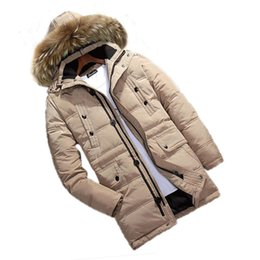 Wholesale Waist Warmer - Wholesale- free shipping Men's winter long section of genuine clearance detachable cap and large yards thick warm down parkas liner 260