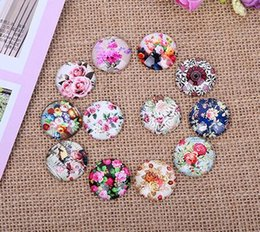 Wholesale Easter Cabochons - 96pcs 10-30mm Rural Flowers Restoring Ancient ways Round Handmade Photo Glass Diy Cabochons & Glass Dome Cover Pendant Cameo Settings