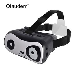 Дизайнерский картон онлайн-Wholesale- VR Glasses Google Cardboard Virtual Reality 3D Glasses Lovely Panda Design For 4~6 inch IOS and Android Smartphones VR1118Z