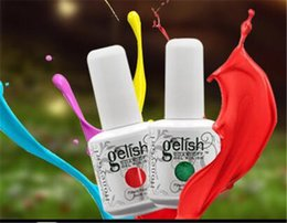 Wholesale Gel Polish Piece - Gelish 233 Colors Nail Gel Gelish Cosmetic Soak Off Any 10 Pieces Nail Art Gel Nail Polish Foundation Top Coat Manicure Set