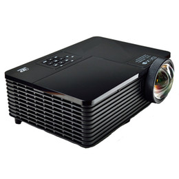 Wholesale Hotels Business - Wholesale-Best Short throw lens Daylight USB HDMI Home Theater XGA 1080p full HD 3D DLP Projector Proyector beamer for church hall hotel