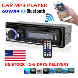 Wholesale Russian Speakers - Bluetooth Car Stereo Audio 1 DIN In-Dash FM Aux Input Receiver SD USB MP3 Radio Free shipping