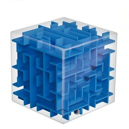 Wholesale Cubic Fun 3d - New Children's Cube Labyrinth Puzzle Cubic Fun 3D Maze Box Brain Intellegent Develop Kids Educational Classic Toys For Childre Free Shipping