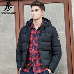 Wholesale Russian Coats - Wholesale- Pioneer Camp men down jacket brand puffer down jacket men casual Russian winter duck down coat snow warm parkas for men 611625
