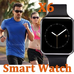Wholesale Watch Phones Sale - X6 Smart Watch Smartwatch For Samsung Sony Android Mobile Phone With SIM TF Card Slot 2017 Hot Sale Curved Sceen Watchs