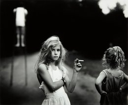 Wholesale Art Design Poster - Free Shipping Sally Mann Candy Cigarette 1989 Art Print Poster 24x36 Art Posters Prints Home Decor Wall Paper 16 24 36 47 inches