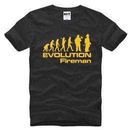 Wholesale Fireman T Shirts - 2017 new fashion Tshirt Evolution Of A Fireman Creative Novelty Mens Men T Shirt Short Sleeve O Neck Cotton T-shirt Tee