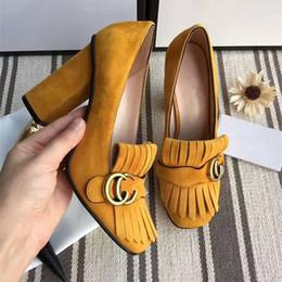 Wholesale Court Wedding Dresses Sale - 2017 new luxury brand 7 color hot sale women's high quality leather dress shoe brand wedding sweet single shoes