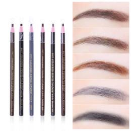 Wholesale Permanent Waterproofing - 2PCS Waterproof Microblading Permanent Makeup Eyebrow Lip Design Positioning Pencil