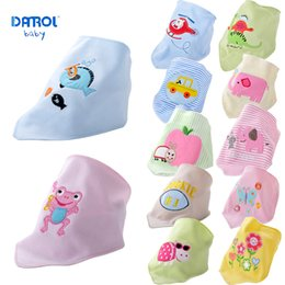 Wholesale Girls Clothing Manufacturers - 2 pieces lot 0T-3T Danrol baby double saliva bibs girls and boys manufacturer wholesale burp clothes DR0084