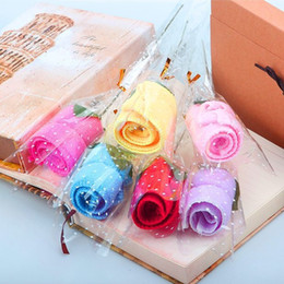 Wholesale Rose Events Wedding - Rose wedding gift company opening promotion Valentine 's Day gift event small gift creative towel