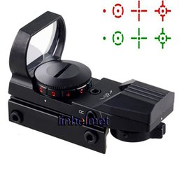 Wholesale Reflex Sight Green Reticle Hunting - Tactical Red and Green Dot Reflex Sight Scope with 4 Reticle 5 Level Adjustable Mount for Airsoft Hunting Rifle Gun