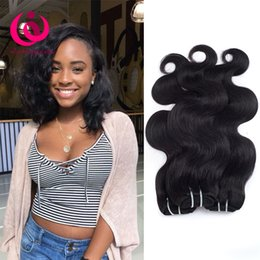 Wholesale 28 Inch Human Hair Cheap - Brazilian Human Hair 3 Bundles Body Wave Hair Weaves Bob Style 8-28 inch Cheap Indian Malaysian Peruvian Virgin Hair Extensions