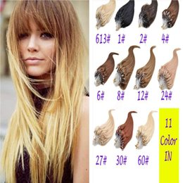 "Wholesale Micro Ring Hair Blond - 100g 18"" -28"" inch Blond INDIAN REMY Human Micro Ring loop Hair Extension 1g s 8A Grade Indian Hair Extension fast free shippng"