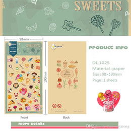 Doce caderno on-line-1 pcs kawaii sweet candy adesivos scrapbook notebook decoração diy handmade etiqueta presente cartão de presente das crianças