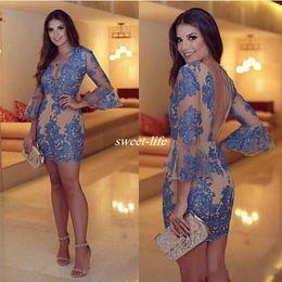 60bf8b596f7 Discount winter semi formal dresses - 2017 Sexy V Neck Sheath Short Cocktail  Dresses robe de
