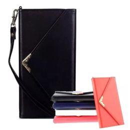 Wholesale envelope wallet case for iphone - Envelope Wallet Case V-Shaped Flip Cover for iphone 7 6s 6 plus Samsung S8 PLUS S7 edge SONY XP X XZ opp