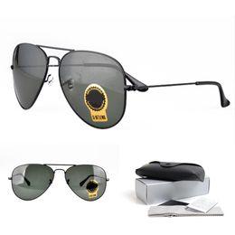 7c305439d2 Classic Pilot Sunglasses para hombres mujeres G-15 Green Lens Alloy Black  Frame Ventas al por mayor de lentes para gafas de sol de alta calidad  Ancho: ...