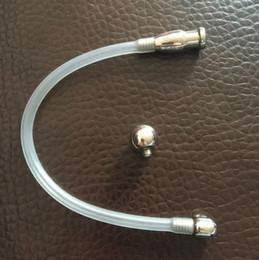 Wholesale New Chastity Plug - New Latest Male Penis Urethral Catheter Hollow Tube Plug Bondage Men's Chastity Devices Adult Sex Products Toys S023