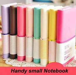 Wholesale Wholesale Mini Smiley Diary - Wholesale- Creative Diary Cute Charming Mini Portable Smile Smiley Paper Notebook Memo Note Book Notebook Scratch Pad Free Shipping