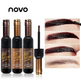 Wholesale Eye Tinting - New eyebrow gel peel off waterproof Eye brow Gel tint my matte brows gel 7 days make up tools Novo make up