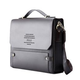 Wholesale Leather Satchel Briefcase Men - Wholesale- VIDENG POLO Fashion Rivet Leather Messenger Bags For Men Already Set Bag Business Men Briefcase Bag Hard Brand Leather Briefcase