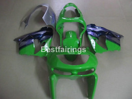 Wholesale Kawasaki Fairings Kits - Fairing kit for Kawasaki Ninja ZX9R 98 99 green blue motorcycle fairings set ZX9R 1998 1999 TY02
