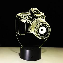 Wholesale Ce Camera - 3D Camera Optical Illusion Lamp Night Light DC 5V USB Powered AA Battery Wholesale Dropshipping Free Shipping