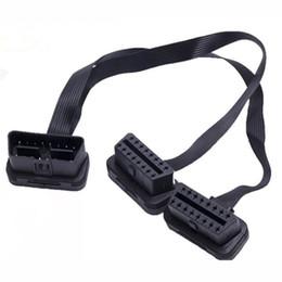 30cm noir 2in1 flexible OBD2 extension fil connecteur 16pins port connecteur pour obd 2 outils de diagnostic ? partir de fabricateur