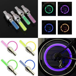 Wholesale Valve Caps Blue - New Bicycle Bike LED Wheel Lights Tyre Wheel Valve Cap led Flash Light Car Wheel Tyre Cycling lamp Bike Accessories Blue Green Red Yellow