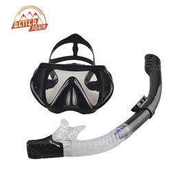 Wholesale diving mask new - Wholesale-2016 New Professional Scuba Diving Mask Snorkel Anti-Fog Goggles Glasses Set Silicone Swimming Fishing Pool Equipment 6 Color