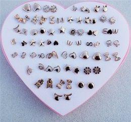 2019 orecchini della vite prigioniera di plastica all'ingrosso 36pairs / lot bambini ragazze plastica arco orecchini a forma di cuore orecchini con scatola cuore per la femmina all'ingrosso sconti orecchini della vite prigioniera di plastica all'ingrosso
