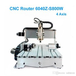 Wholesale Axis Milling Machine - Mini Lathe CNC 6040 Z-S 4 Axis CNC Milling Machine With 800W Water Cooling Spindle For Matel Milling & Woodworking