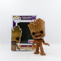 Wholesale Bobble Heads Funko - LilyToyFirm Funko Pop Funko Pop Guardians of the Galaxy # 84 Groot Vinyl Bobble Head Action Figure Anime Figure Collectible Model Toy