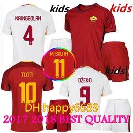 Wholesale Kids Kds - 17 18 New Rome Kids home soccer Jerseys kids kit EL Shaarawy 2017 2018 kids football kds away soccer Jersey shirts white