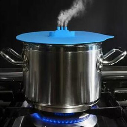 Wholesale Steamed Pot - 27*25.5*2.5cm Steam Ship Steaming Lid Silicone Steam Lid Kitchen Tools Covers for Pots Cups kitchen Accessories CCA7129 50pcs