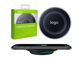 Universal Qi Wireless Charger fast Charging pad For Samsung Galaxy S6 S7 Edge mobile pad With micro usb cable and packaging box nereden qi mobil şarj cihazı tedarikçiler