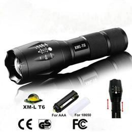 LED El Feneri XML-T6 3800LUmens Zumlanabilir Işık G700 E17 CREE Taktik El Feneri Torch Yürüyüş Kamp Tırmanma Perakende Kutusu ile nereden mini radyo satışı tedarikçiler