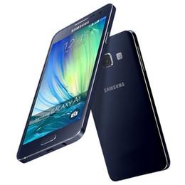 Wholesale Dual Sim 4g Mobile - Original Refurbished Samsung Galaxy A3 A3000 Dual SIM 4.5 inch MSM8916 Quad Core 1GB RAM 8GB ROM 8MP Camera 4G LTE Unlocked Mobile Cellphone