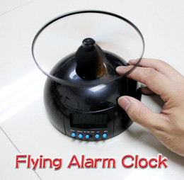 Wholesale Helicopter Alarm Clocks - Creative Toy With Clock Backlight Alarm Clock Flying Lazy Helicopter Flying Digital Alarm with Snooze Function Battery Operated