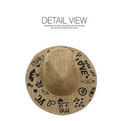 Wholesale Grass Shades - Chinese style Lady summer shade hat love embroidered love straw hat Beach sun hat Sun Protection Resort