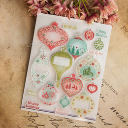 Wholesale Scrapbooking Sheets - Wholesale- Happy holiday of christmas Transparent Clear Silicone Stamp Seal for DIY scrapbooking photo album clear stamp sheets EE-018