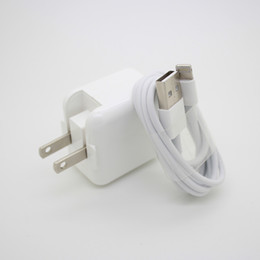 Wholesale Ipad Usb Port Cable - 2.4A 12W Fast USB Port Wall Home Travel Portable Phone Charger Adapter +Data Cable for Apple IPhone IPad etc