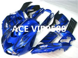 Wholesale zx14 black - 3 gifts Motorcycle Fairing kit for KAWASAKI Ninja ZX14R 06 07 08 09 ZX14R 06-09 Motorcycle Fairings set Blue Black A39
